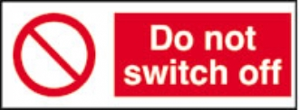do not switch off (pack of 10)