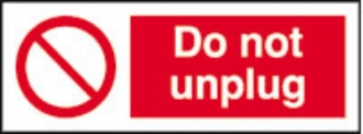 do not unplug (pack of 10)
