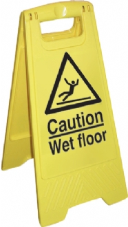 caution wet floor cleaning stand