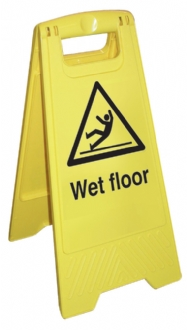 wet floor cleaning stand