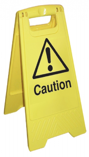 caution cleaning stand