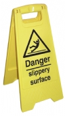 danger slippery surface cleaning stand