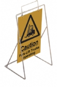 swing sign caution fork lift trucks op  (sign only)