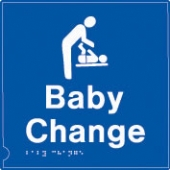 baby change symbol - (white & blue)