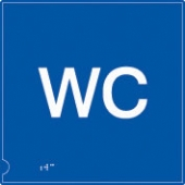 wc symbol - (white & blue)