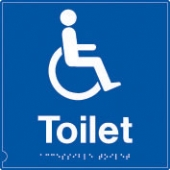 toilet - men/women symbol  (white & blue)