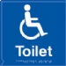 disabled wc symbol - (black & white)