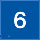no.6 (white & blue)