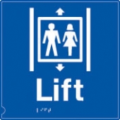 lift - (white & blue)