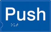 push - (white & blue)