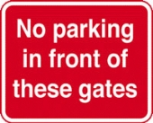 no parking in front of gate  c/w channel