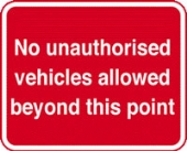 no unauthorised vehicles  c/w channel