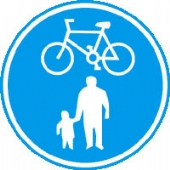 pedestrians/cyclists with channel