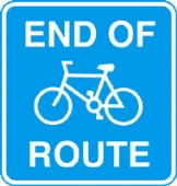 end of route with channel