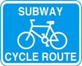 subway cycle route c/w channel