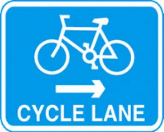 cycle lane right with channel