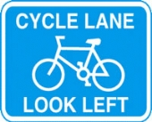 cycle lane without channel
