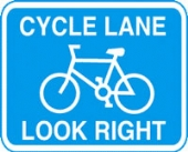cycle lane right without channel