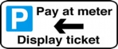 pay at meter display ticket without channel