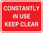constantly in use keep clear with channel