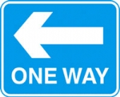 one way left with channel