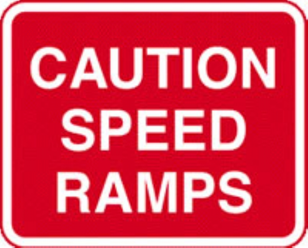 caution speed ramps no channel