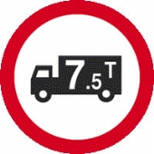 lorry tons 7.5 tonnes c/w text