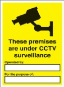 These premises are under CCTV..
