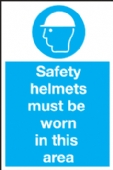 Safety helmets must be worn..