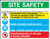 Site Safety board  tuff
