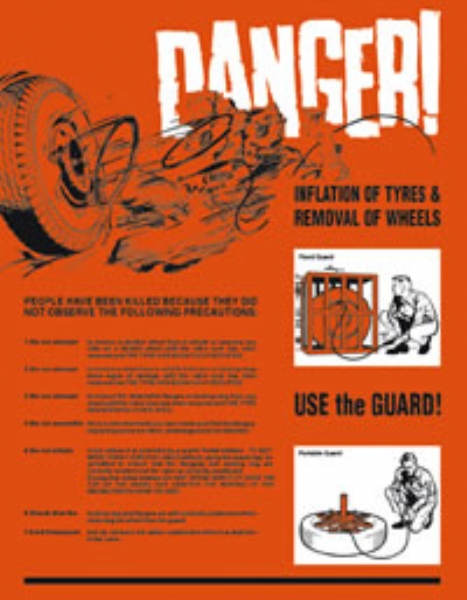 danger inflatable tyres