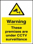 warning these premises are under cctv surveillance