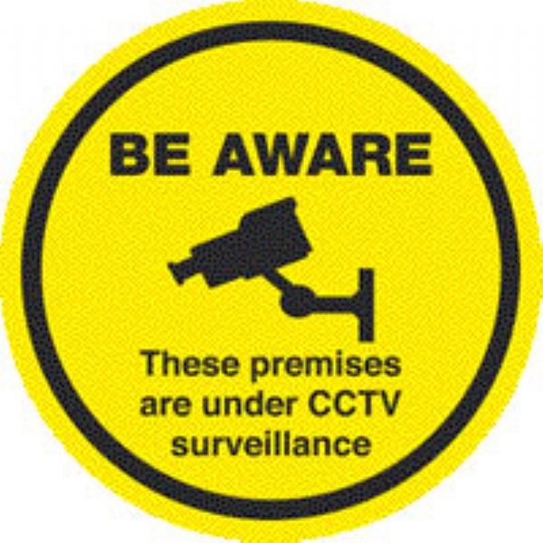 be aware - premises are under cctv surv.without chan 450dia