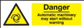 danger automatic machinery