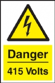 warning danger 415 volts
