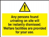 any persons found urinating