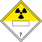 new regulation placard radioactive7