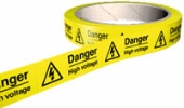 danger high voltage on a roll