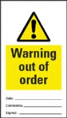 warning out of order