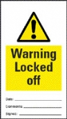 warning locked off (pack of 10)