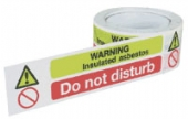 warning insulated asbestos - do not disturb