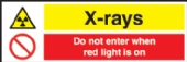 x-rays - do not enter when red light is on