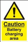 caution - battery charging area