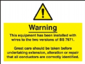 electrical wiring IEE labels (Pack 10)