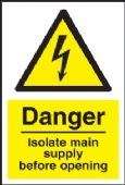 danger isolate main supply