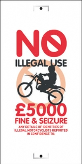 no illegal use of motorcycles