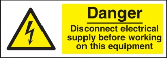 danger disconnect electrical