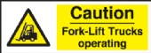 caution fork lift trucks