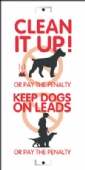 clean it up/keep dogs on leads