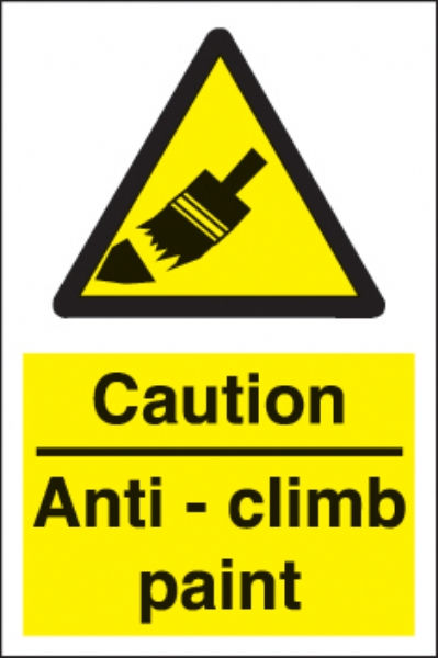 caution anti-climb paint